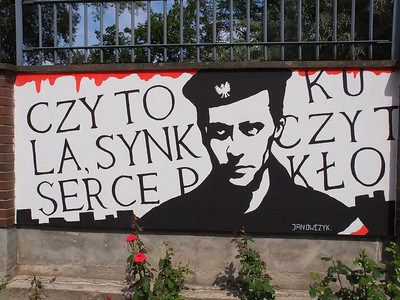 Poster/Painting outside The Warzaw Uprising Museum. Photo: Martin Bager.