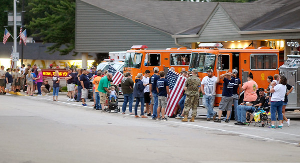 John P. Cleary | The Herald Bulletin<br /> HM1 Ryan Lohrey procession through Middletown.