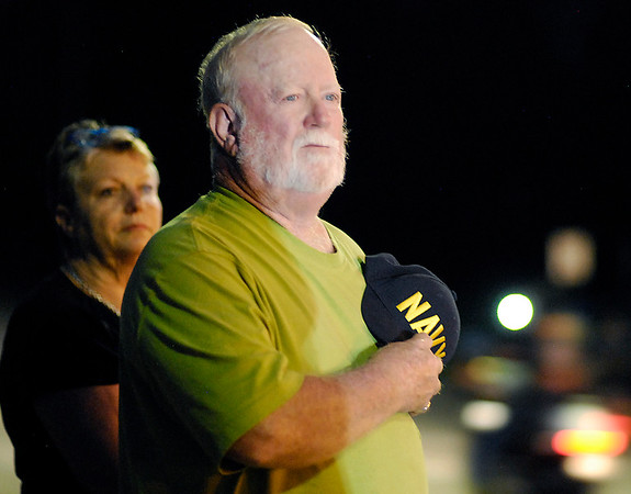 John P. Cleary   The Herald Bulletin<br /> HM1 Ryan Lohrey procession through Middletown. People came out to pay honor to HM1 Ryan Lohrey as his procession passed through Middletown Thursday evening.