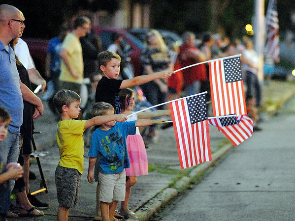 John P. Cleary   The Herald Bulletin<br /> HM1 Ryan Lohrey procession through Middletown.