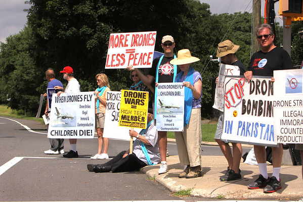 Protesting the Drones at CIA Headquarters July 13, 2013