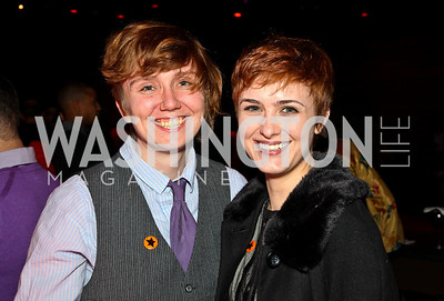 Stine Batson, Mauri Systo. Put on the Gloves Fashion Event for the Trevor Project. Photo by Tony Powell. Town. January 27, 2011