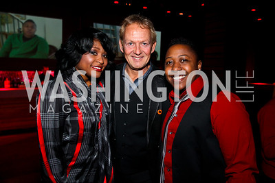Elaine Mensah, Ted Davis, Ebone Bell. Put on the Gloves Fashion Event for the Trevor Project. Photo by Tony Powell. Town. January 27, 2011
