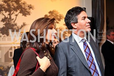 Lisa Fletcher, Wayne Pacelle. Ron Reagan Book Party. Photo by Tony Powell. Jefferson Hotel. January 24, 2011