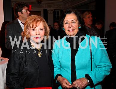 Buffy Cafritz, Ann Jordan. Ron Reagan Book Party. Photo by Tony Powell. Jefferson Hotel. January 24, 2011