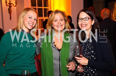 Molly Fitzgerald, Hilary Rosen, Su-Lin Nichols. Ron Reagan Book Party. Photo by Tony Powell. Jefferson Hotel. January 24, 2011