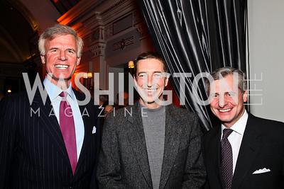 Fred Ryan, Ron Reagan, Jon Meacham. Ron Reagan Book Party. Photo by Tony Powell. Jefferson Hotel. January 24, 2011