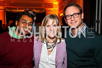 Polson Kanneth, Kelley McCormick, Matt Dornic. Ron Reagan Book Party. Photo by Tony Powell. Jefferson Hotel. January 24, 2011