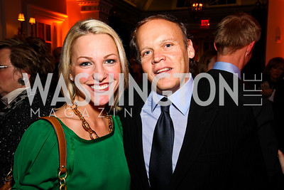 Lindsay Czarniak, Mark Ein. Ron Reagan Book Party. Photo by Tony Powell. Jefferson Hotel. January 24, 2011