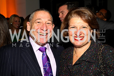 Ted Greenberg, Susan Sher. Ron Reagan Book Party. Photo by Tony Powell. Jefferson Hotel. January 24, 2011