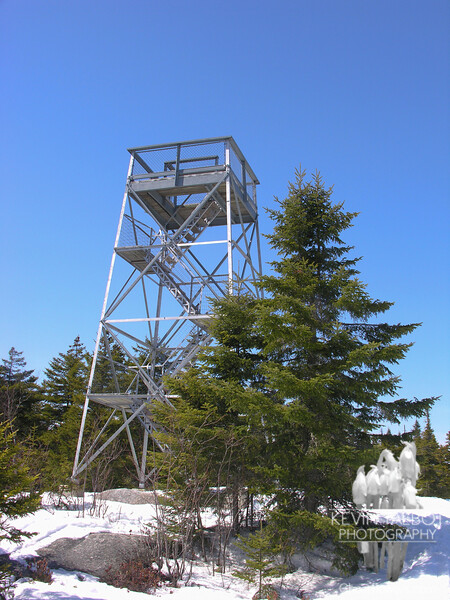 Observation tower on Bald Mountain, Oquossoc, Maine.