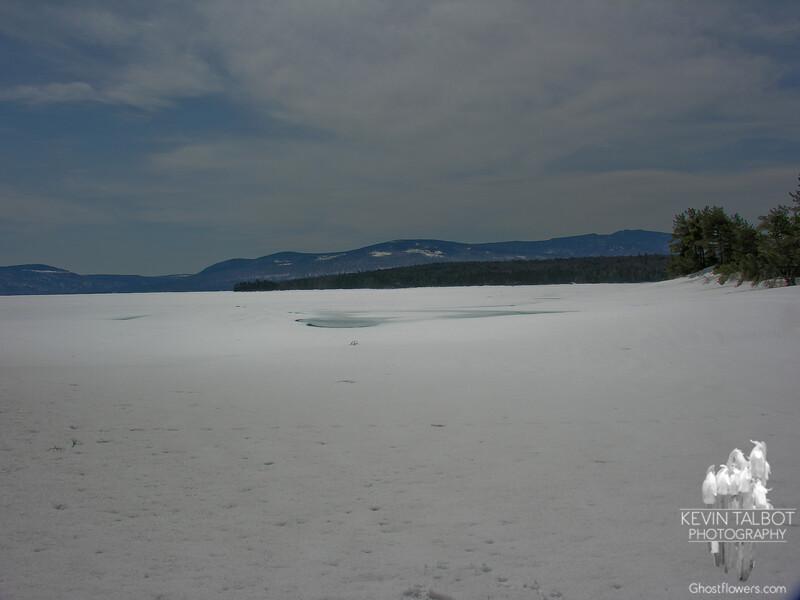 Frozen Mooselookmeguntic Lake.