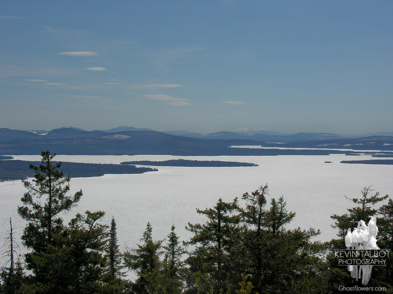 The Northern Presidentials can be seen on the horizon, just right of center.