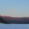 Alpenglow on eastern hills.