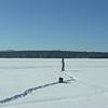 Frozen white wasteland.