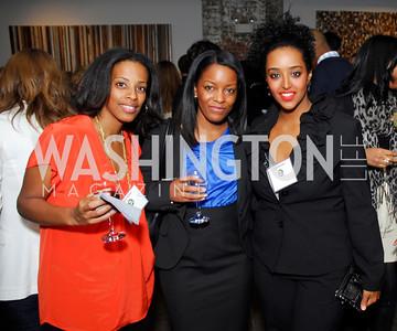 Athini Asihel,Altreece Snoddy,Gelila Sebhato,November 17,2011,Reception for Lift DC,Kyle Samperton