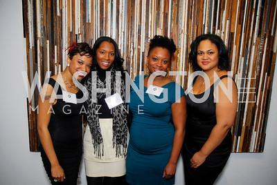 Qiana McKoy,Maria Lloyd,Lakeshia Griggs,Lory Alexander,November 17,2011,Reception for Lift DC,Kyle Samperton