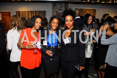Athini Asihel,Altreece Snoddy,Gelila Sebhato,November 17,2011,Reception for Lift DC,Kyle Samperton