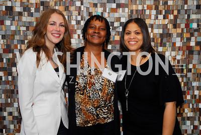 Kirsten Lodal.Diane Hunter, LaShone Davis,November 17,2011,Reception for Lift DC,Kyle Samperton