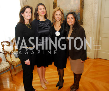 Laura Smith, Luanne Zurlo, Christine Vermillion, Elva Siliezar, Reception in honor of Steven Shindler and Claudio X. Gonzalez Laporte, April 5, 2011, Kyle Samperton