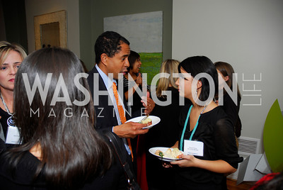 Bryan Auguste, Araceli Flores,  November 16,2011,Reception for Teach for America,Kyle Samperton