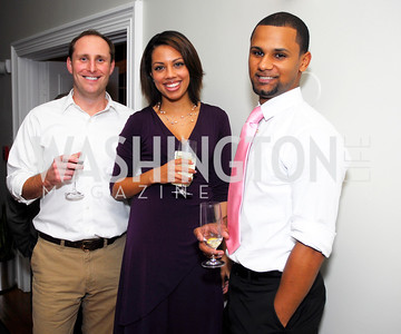 Ryan Crane, Kindall Mattos, Ricky Dacosta, November 16,2011,Reception for Teach for America,Kyle Samperton