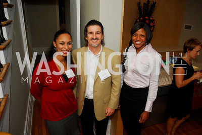 Jemina Bernard,Vadim Nikitine,Shayla Martin,November 16,2011,Reception for Teach for America,Kyle Samperton