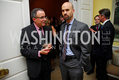 Michael Kinsey,James Bennett,Reception for Washington Ideas Forum,October 4,2011,Kyle Samperton