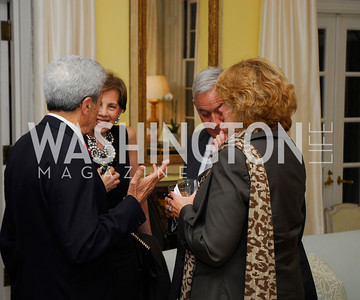 Gerald Rafshoon,Adrienne Arsht,Walter Isaacson,Anne Finucane,Reception for Washington Ideas Forum,October 4,2011,Kyle Samperton