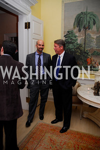 James Bennett,Major Garrett,Reception for Washington Ideas Forum,October 4,2011,Kyle Samperton