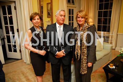 Adrienne Arsht,Walter Isaacsin,Anne Finucane,Reception for Washington Ideas Forum,October 4,2011,Kyle Samperton