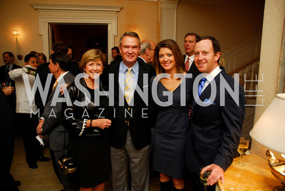 Lois Breaux,John Breaux,Norah O'Donnell,Geoff Tracy,Reception for Washington Ideas Forum,October 4,2011,Kyle Samperton
