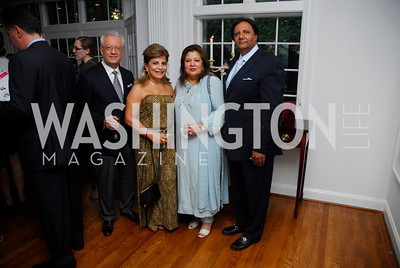 Vicken Poochikan, Annie Totali, Shaista Mamood, Ray Mamood, Reception for YOA Orchestra of the Americas, June 8, 2011, Kyle Samperton