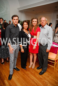 Rafael Valencia, Patricia Valencia, Paulina Valencia, Rafael Valencia, Reception for YOA Orchestra of the Americas, June 8, 2011, Kyle Samperton