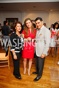 Patricia Valencia, Paulina Valencia, Xavier Equihua, Reception for YOA Orchestra of the Americas, June 8, 2011, Kyle Samperton