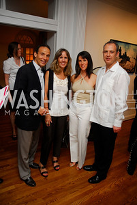 Ricardo Ernst, Isabel Ernst, Veronica Sarukhan, Arturo Sarukhan,  Reception for YOA Orchestra of the Americas, June 8, 2011, Kyle Samperton