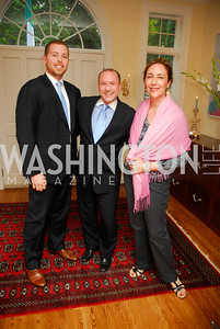 Roger Whyte, Darren Thomas, Claudia Keller, Reception for YOA Orchestra of the Americas, June 8, 2011, Kyle Samperton