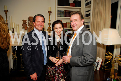 Stuart Holliday,Alexandra deBorchgrave,John Pyles,November 18,2011,Reception for the Ambassador of Hungary,Kyle Samperton