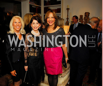 Kandy Stroud.Joann Mason,Barbara Harrison,November 18,2011,Reception for the Ambassador of Hungary,Kyle Samperton