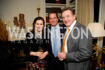 Alexandra deBorchgrave,Stuart Holliday,John Pyles,November 18,2011,Reception for the Ambassador of Hungary,Kyle Samperton