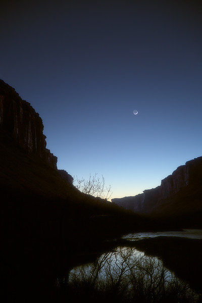 Moon Over Colorado River