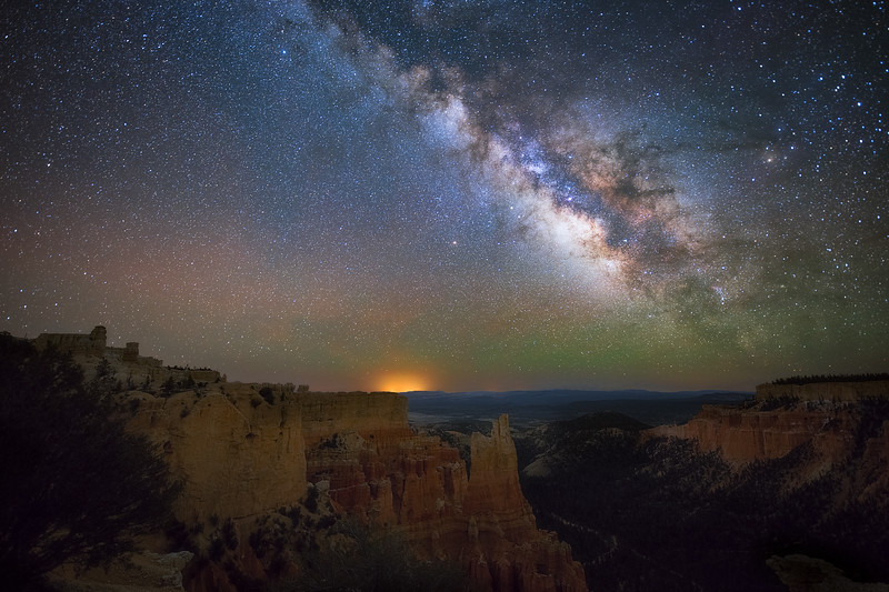 Milky Way from Paria View Point Bryce Canyon