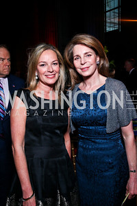 Mariela Trager, Queen Noor. Photo by Tony Powell. Refugees International 32nd Annual Dinner. Mellon Auditorium. May 5, 2011