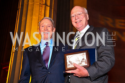 Jim Kimsey, Sen. Patrick Leahy. Photo by Tony Powell. Refugees International 32nd Annual Dinner. Mellon Auditorium. May 5, 2011