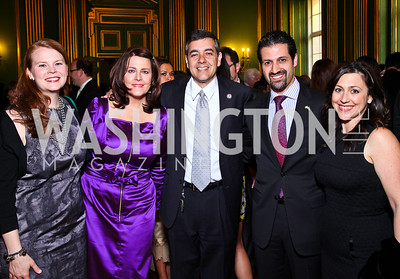 Rebecca Cooper, Rachel Pearson, David Rivera, Qubad Talabani and Sherri Kraham Talabani. Photo by Tony Powell. Refugees International 32nd Annual Dinner. Mellon Auditorium. May 5, 2011