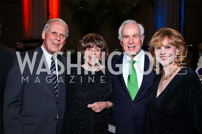 Walter and Dee Dee Cutler, Lloyd and Ann Hand. Photo by Tony Powell. Refugees International 32nd Annual Dinner. Mellon Auditorium. May 5, 2011