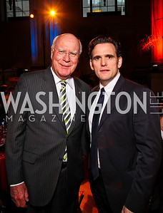 Sen. Patrick Leahy, Matt Dillon. Photo by Tony Powell. Refugees International 32nd Annual Dinner. Mellon Auditorium. May 5, 2011
