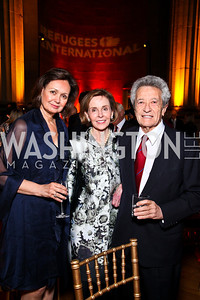 Lynn Waterston, Eden and Jerry Rafshoon. Photo by Tony Powell. Refugees International 32nd Annual Dinner. Mellon Auditorium. May 5, 2011