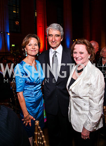 Kati Marton, Sam Waterston, Elizabeth Stevens. Photo by Tony Powell. Refugees International 32nd Annual Dinner. Mellon Auditorium. May 5, 2011