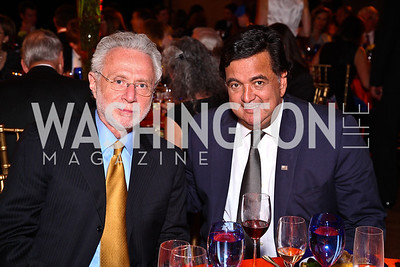 Wolf Blitzer, Gov. Bill Richardson. Photo by Tony Powell. Refugees International 32nd Annual Dinner. Mellon Auditorium. May 5, 2011